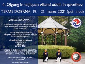 Program: 4. QG in TJQ vikend oddih v Termah Dobrna, 19. – 21.3.21: Krepitev zdravja v času pomladi