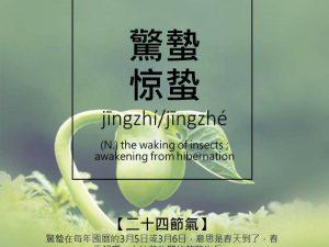 """""""Prebujanje insektov"""" (惊 蛰 (Jīngzhí) ali 3. sončno obdobje (od 5. do 20. marca)"""