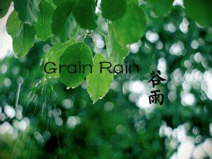 """""""Rodovitno deževje""""(谷雨 Gǔ yǔ) ali 6. sončno obdobje"""