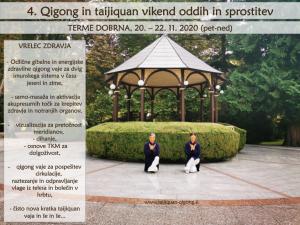 Program: 4. QG in TJQ vikend oddih v Termah Dobrna, 20. – 22.11.20: Krepitev zdravja na jesen in zimo